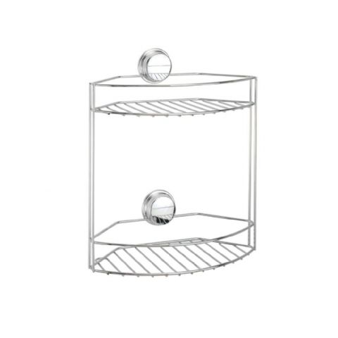 Croydex No Screws Stick n Lock 2 Basket Shower Storage
